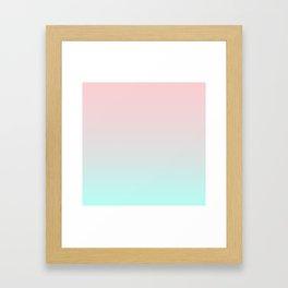 Pastel Ombre Millennial Pink Mint Gradient Framed Art Print