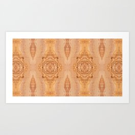 Olive wood surface texture abstract Art Print
