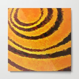 Pop Art Tiger Stripe Animal Print Metal Print