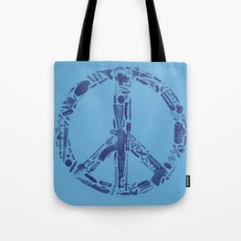 Find Peace (Blue) Tote Bag