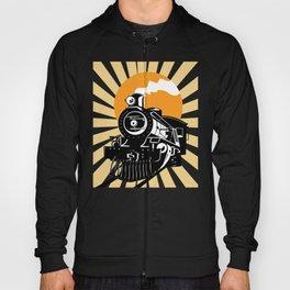 Retro Vintage Locomotive Train Steam Engine Hoody