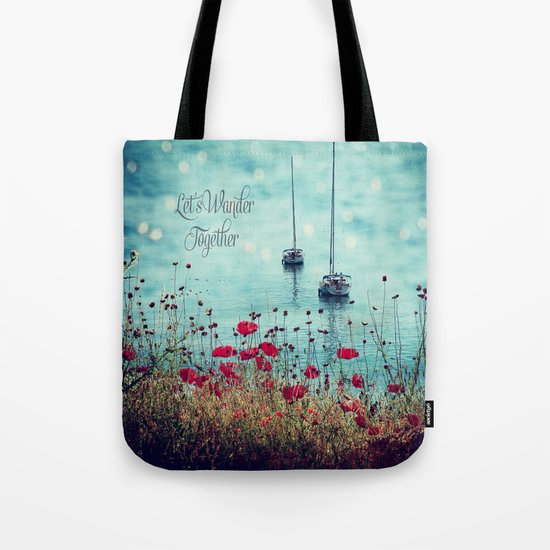 Let's Wander Together Tote Bag