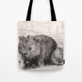 Path to wombat pool Tote Bag