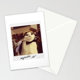 Reindeer Cat Majestic AF Stationery Cards