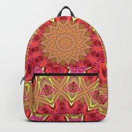 Pink and Green Mandala Kaleidoscope A419 Backpack