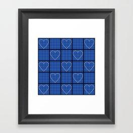 Blueprint to my Heart Framed Art Print