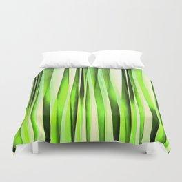 Eternal Evergreen Stripy Pattern Duvet Cover