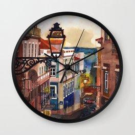 Wine Bar in Lisbon Wall Clock