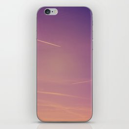 Chemtrails violet sky iPhone Skin