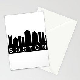 Boston skyline Stationery Cards