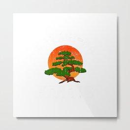 Miyagi-Do Karate Fight Funny Karate Live Vintage Bonsai Tree T-Shirt Metal Print
