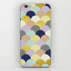 Golden and colorful spheres II iPhone Skin