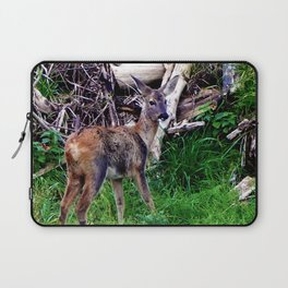 young deer builds a nest Laptop Sleeve
