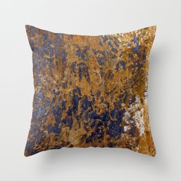 Rusted and Scratched Throw Pillow