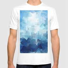 Blue Landscape Mens Fitted Tee MEDIUM White