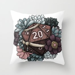 Monk Class D20 - Tabletop Gaming Dice Throw Pillow