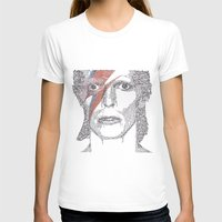 bowie T-shirts featuring Bowie by S. L. Fina