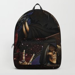 crow Death Stars Guitar Fantasy hooded Crows Grim Reaper personification Hood headgear Backpack