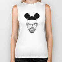 walter white Biker Tanks featuring Walter White by Barbo's Art