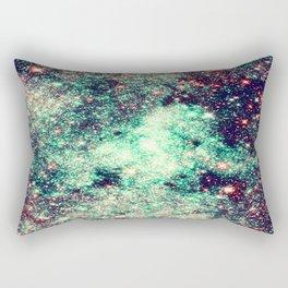 GaLaXy Stars Aqua Teal & Pink Rectangular Pillow