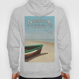 Norfolk Vintage Style travel poster Hoody