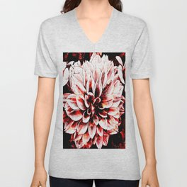 Strawberry Coated Flower Unisex V-Neck