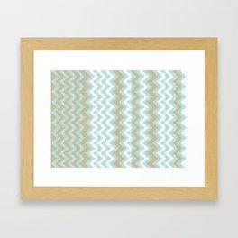 Chevrons and Dots Framed Art Print