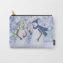 snowmen eating ice cream Carry-All Pouch