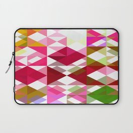 Crape Myrtle Abstract Triangles 1 Laptop Sleeve