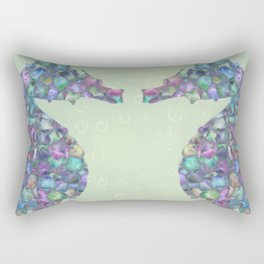 The Abstract Seahorses Rectangular Pillow