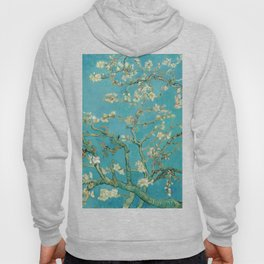 Almond Blossoms Vincent van Gogh Blue Floral Hoody