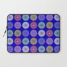 Pastel Flowers Pattern (On Blue) Laptop Sleeve