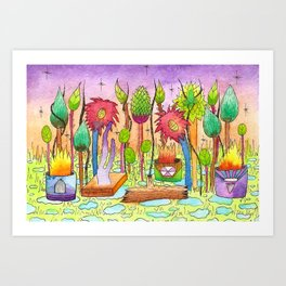 Dream Garden 2 Art Print