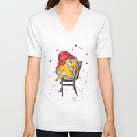 selena gomez V-neck T-shirts featuring selena by Laurie Art Gallery