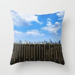 """Get Out There"" Throw Pillow"