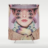 alien Shower Curtains featuring Alien by Mrs Araneae