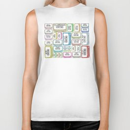 Tape Mix 2 Vintage Cassette Music Collection Biker Tank