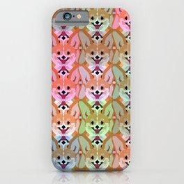 Multicolor Cardigan Corgi Face Pattern - version one iPhone Case