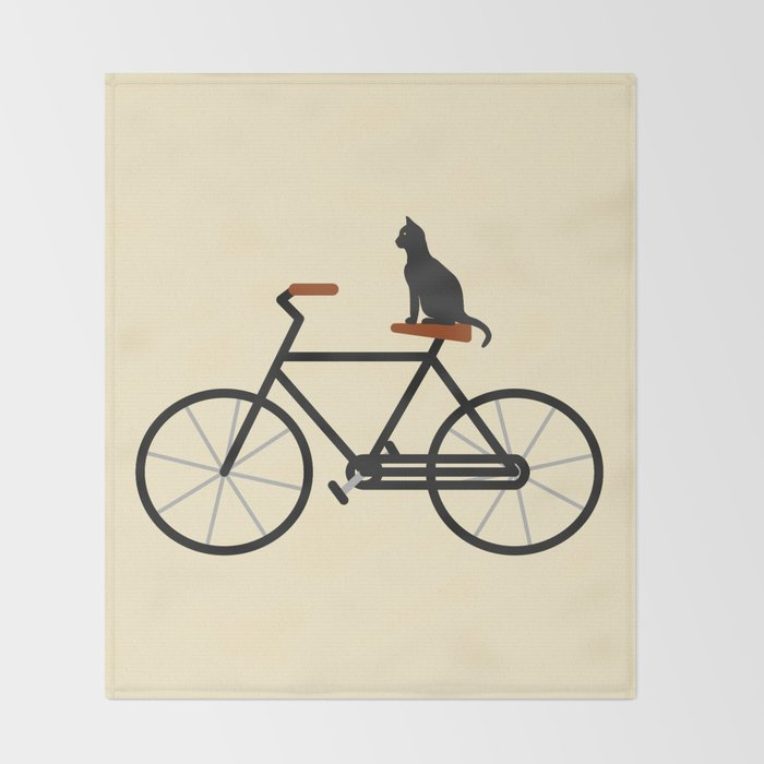 Cat Riding Bike Throw Blanket By Eviltalkingham Society40 New Bicycle Throw Blanket