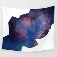 polygon Wall Tapestries featuring Polygon Space by ellyonart
