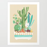 Desert planter Art Print