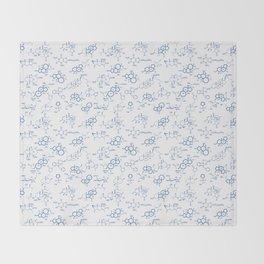 Blue Molecules Throw Blanket