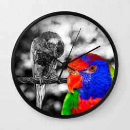 The bird in paradise Wall Clock