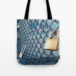 Heart on Lock  Tote Bag