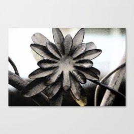 Heavy Metal Flower Canvas Print