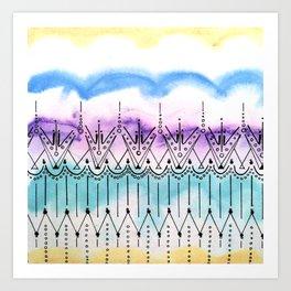 Pitter Pattern 4 Art Print