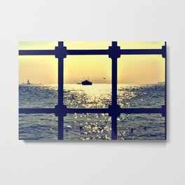 istanbul from behind the bars Metal Print