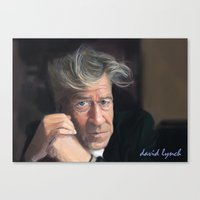 david lynch Canvas Prints featuring David lynch by Tayfun Sezer