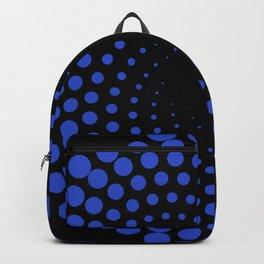 spiral in blue Backpack