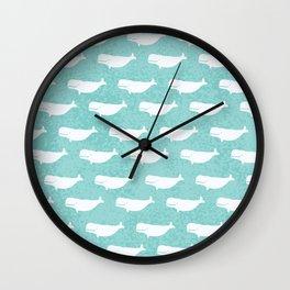 Turquoise beluga pattern Wall Clock